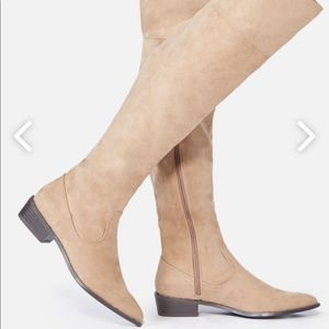 Size 11 Taupe Flat boots WC